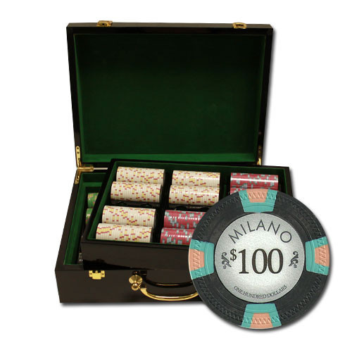 Claysmith Milano 500pc Poker Chip Set w/Hi Gloss Case
