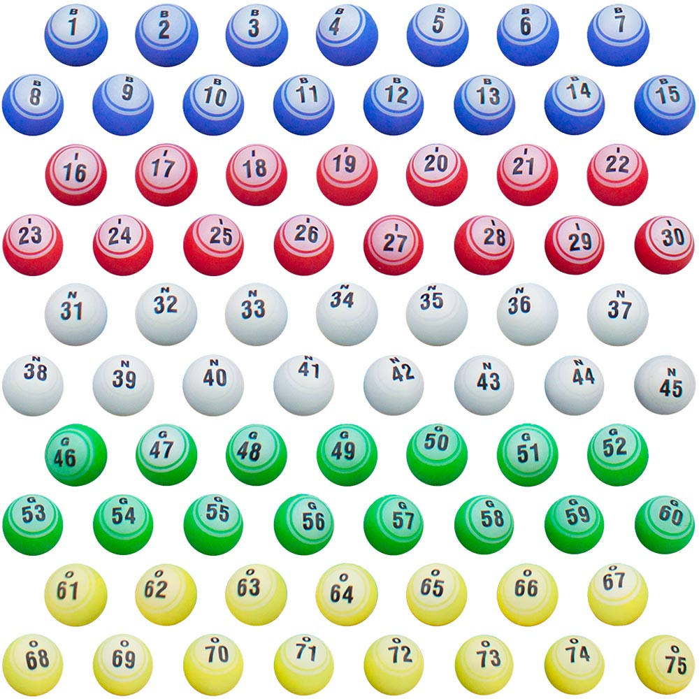 Professional Quality Colored Replacement Bingo Balls
