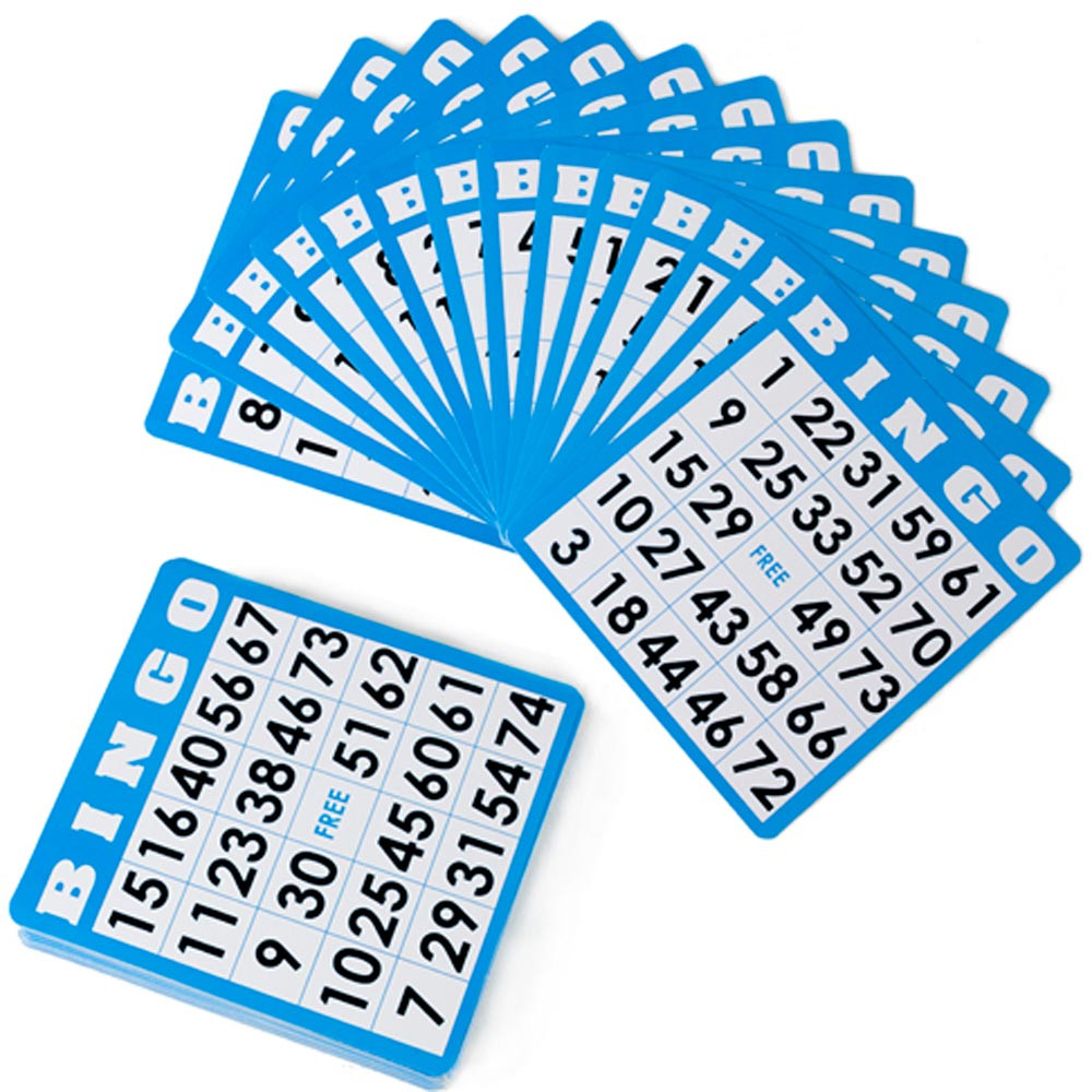 50 Pack of Blue Bingo Cards