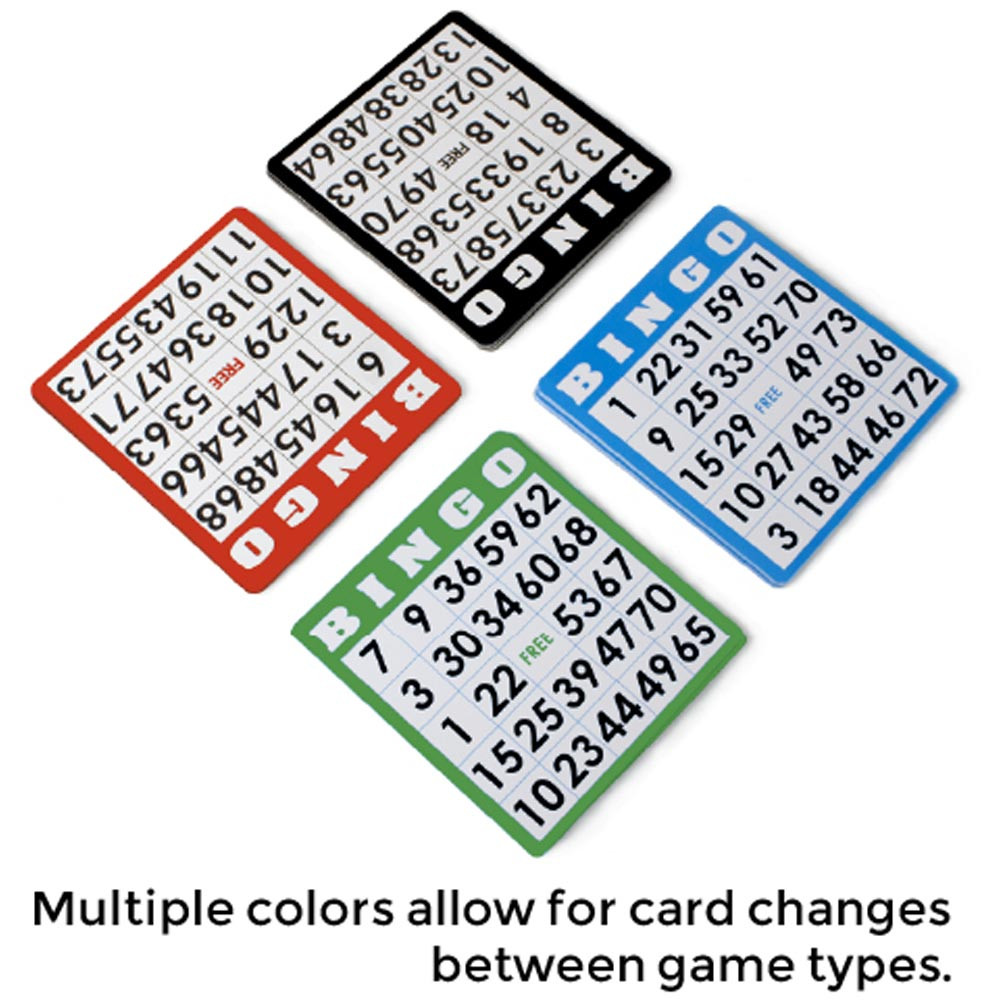 100 Pack of Bingo Cards, Multi Color