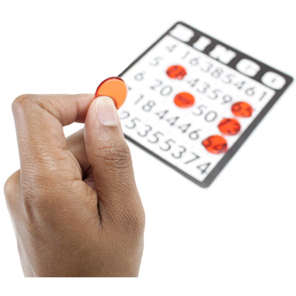 1000 Pack Orange Bingo Marker Chips