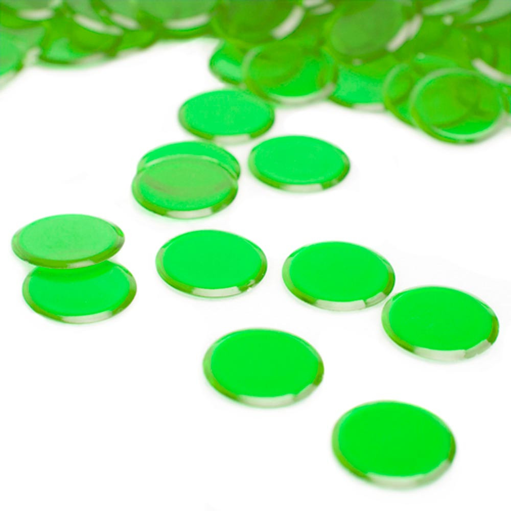 1000 Pack Green Bingo Marker Chips