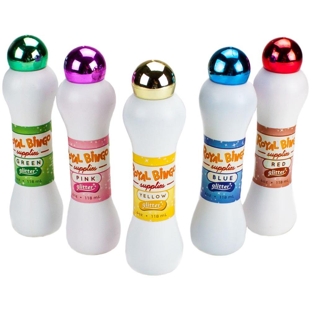 Set of Five Neon Glitter Bingo Daubers