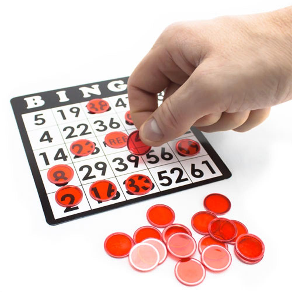 300 Pack Green Magnetic Bingo Marker Chips