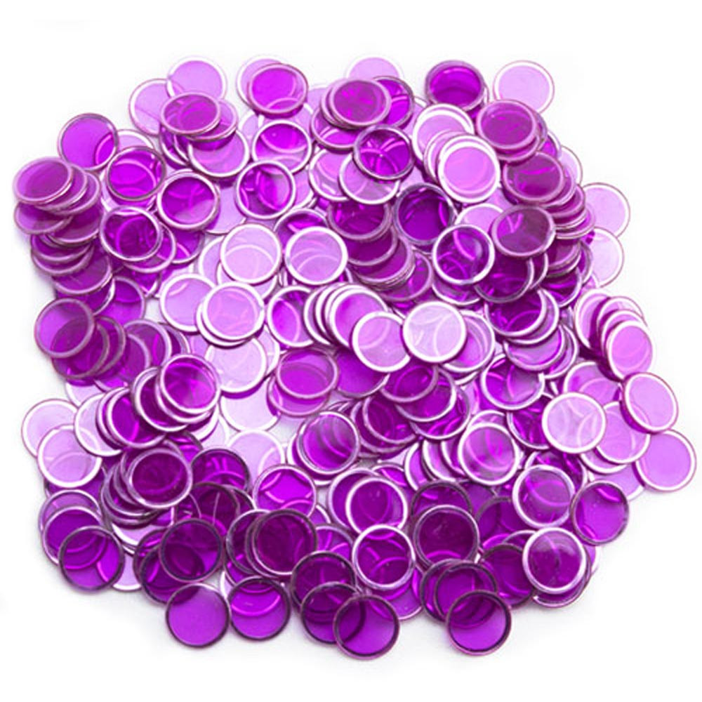 300 Pack Purple Magnetic Bingo Marker Chips