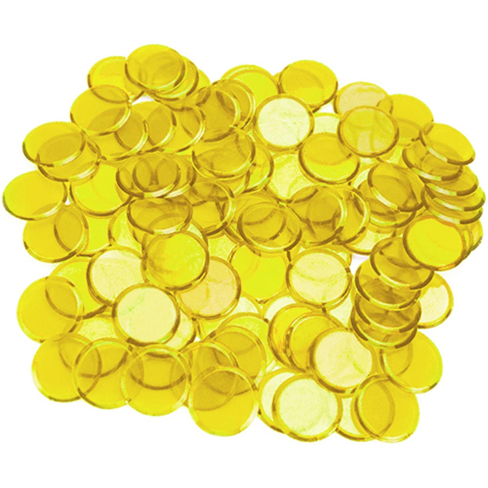 100 Pack Yellow Bingo Marker Chips