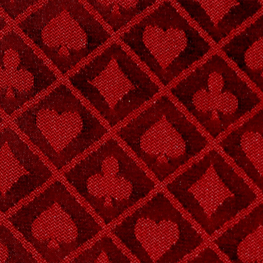 Red Two-Tone Poker Table Speed Cloth - 10 Foot