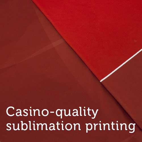 Casino Quality Sublimation Red Poker Table Felt