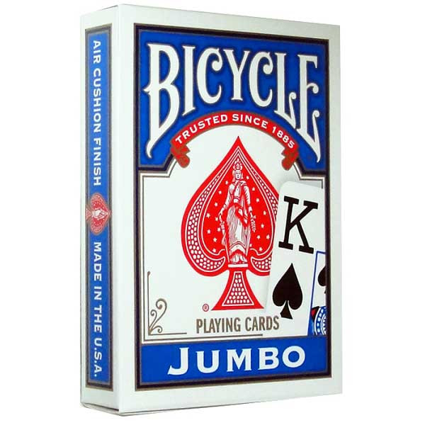 Bicycle Jumbo Index Playing Cards, Blue