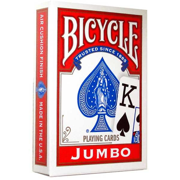 Bicycle 88 Jumbo Playing cards, Red