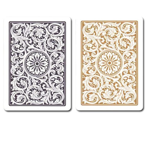 COPAG Plastic Playing Cards, Black/Gold, Poker Size, Jumbo Index