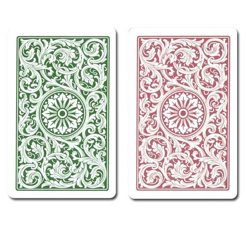 COPAG Plastic Playing Cards, Green/Burgundy, Poker Size, Jumbo Index