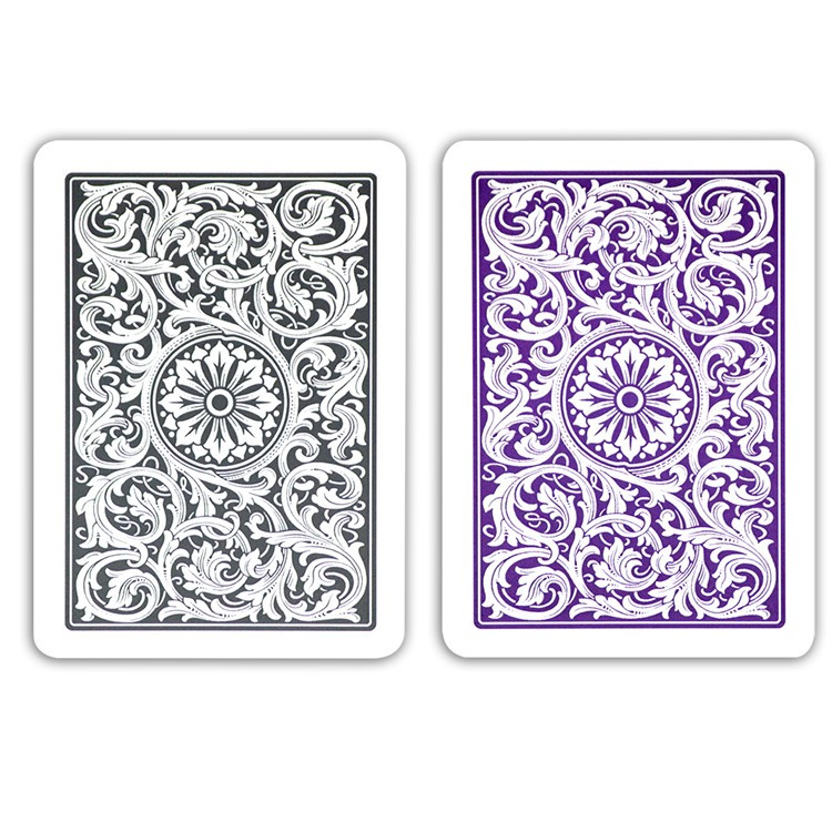COPAG Plastic Playing Cards, Purple/Gray, Poker Size, Jumbo Index