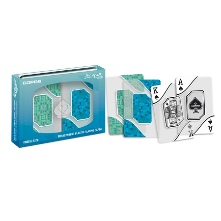 COPAG Acqua Transparent Bridge Playing Cards