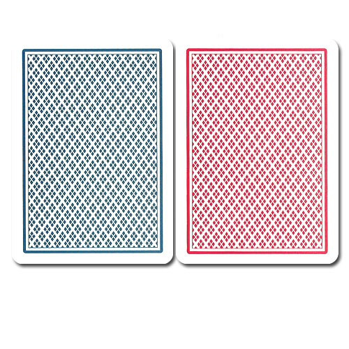 COPAG Plastic Playing Cards, Blue/Red, Poker Size, Dual Index