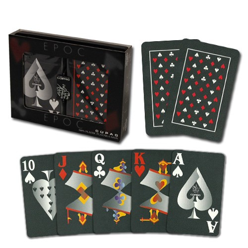 COPAG EPOC Plastic Playing Cards, Bridge Size, Jumbo Index