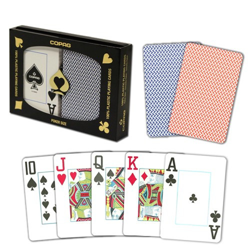 COPAG Export Plastic Poker Playing Card Set, Jumbo Index