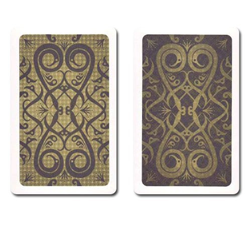 COPAG Iluminura Plastic Playing Cards, Black/Gold, Bridge SIze, Jumb Index