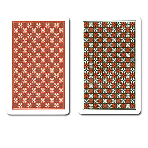 COPAG Master Plastic Playing Cards, Red/Black, Bridge Size, Jumbo Index