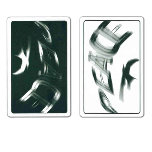 COPAG Peace Plastic Playing Cards, White/Black, Bridge SIze, Jumb Index