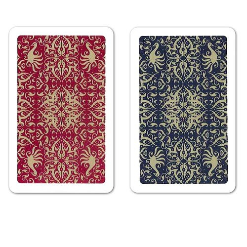 COPAG Script Plastic Playing Cards, Blue/Red, Bridge SIze, Jumb Index