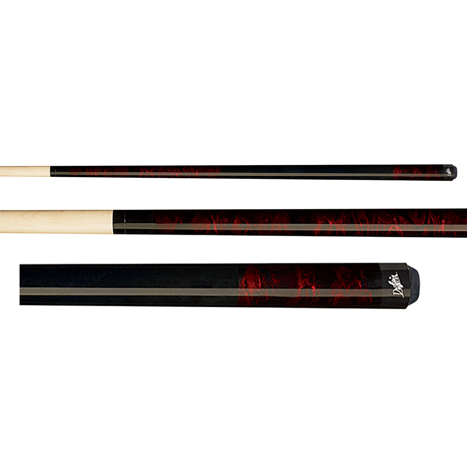 Dufferin D-202 Marbled Red Dream Pool Cue Stick
