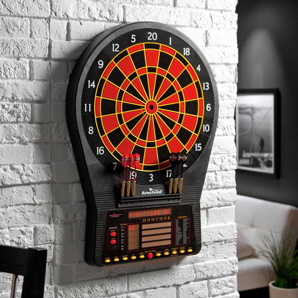 Arachnid CricketPro 800 Talking Electronic Dart Board with Heckler