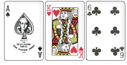 KEM Arrow Plastic Playing Cards, Black/Gold, Poker Size, Jumbo Index