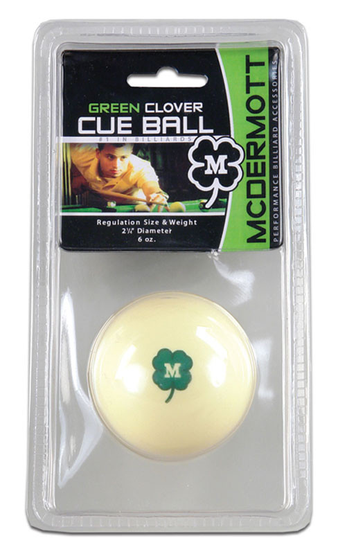McDermott Green Clover Cue Ball