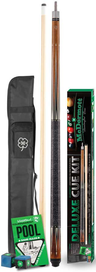 McDermott KIT3 Deluxe Pool Cue Kit w/Case