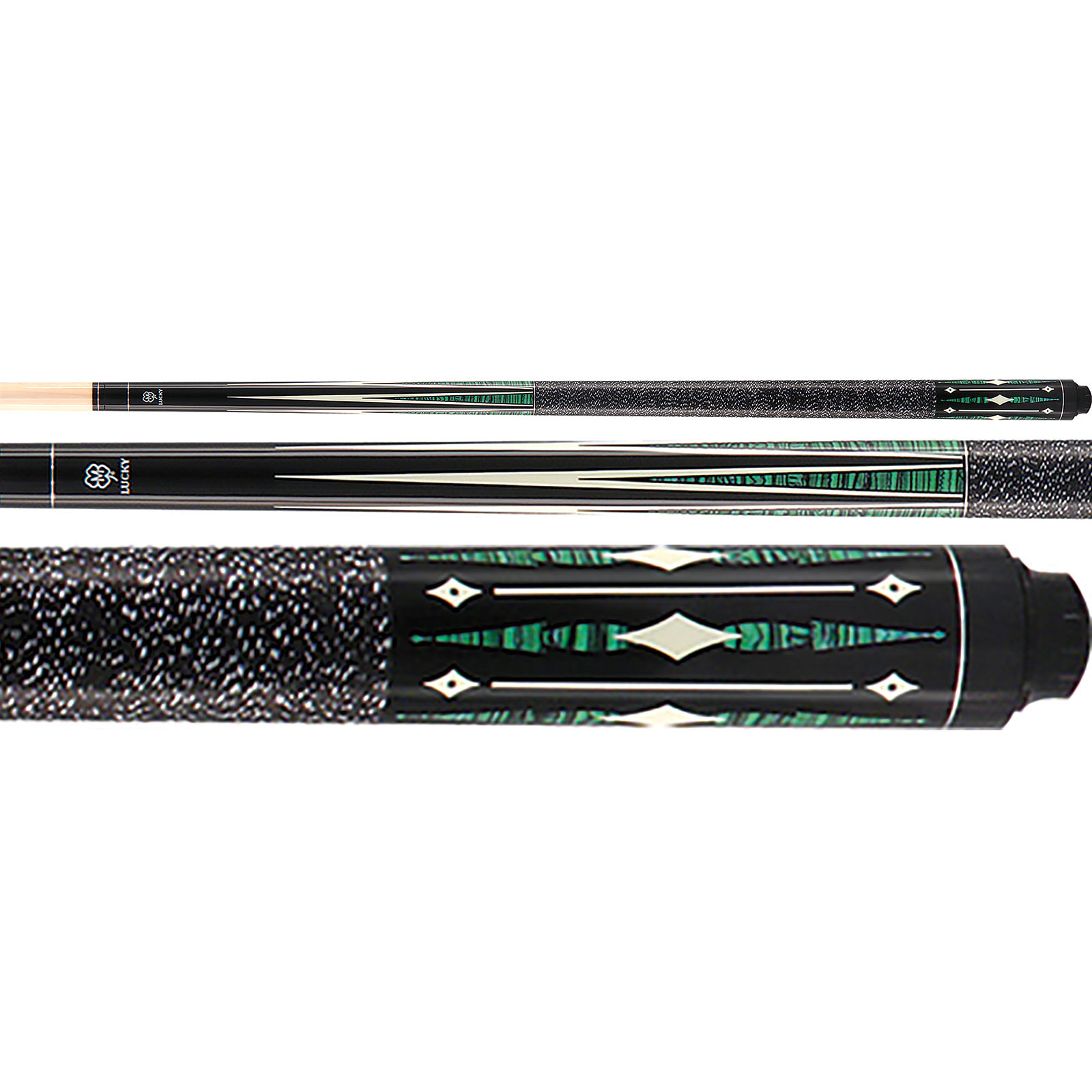 McDermott Lucky Pool Cue, L28, Green