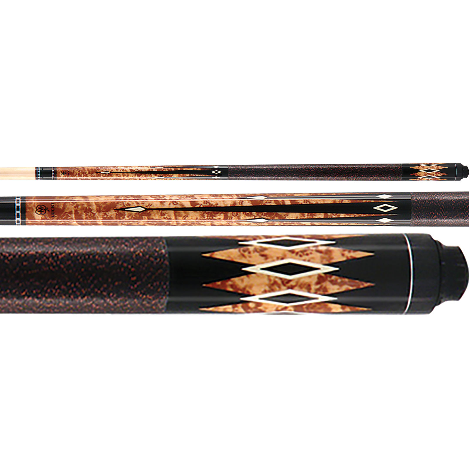 McDermott Lucky Pool Cue, L33, Brown