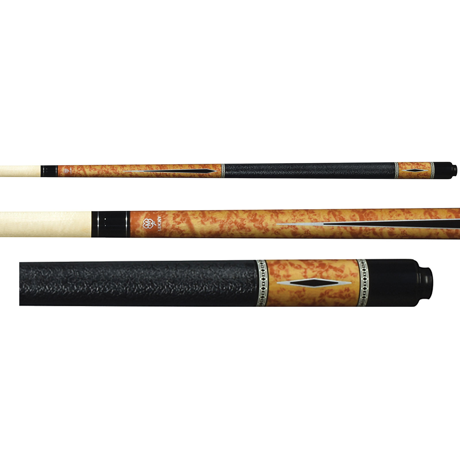 Lucky Pool Cue, L57, Brown
