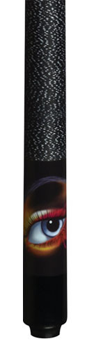 Lucky Pool Cue, L63, Black Butterfly Eye