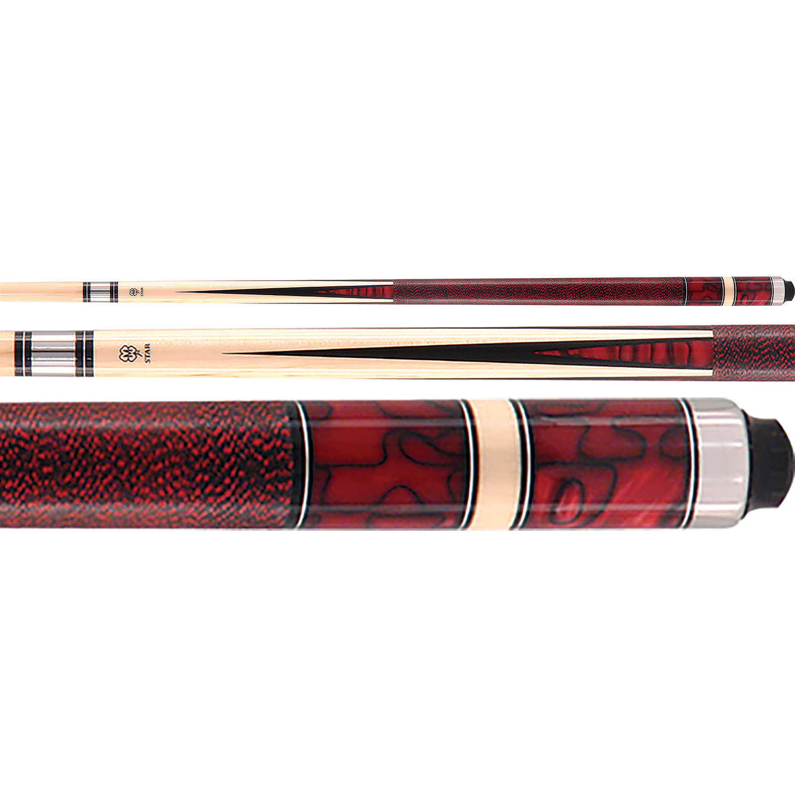 McDermott Star S23 Red Pearl Billiards Pool Cue Stick