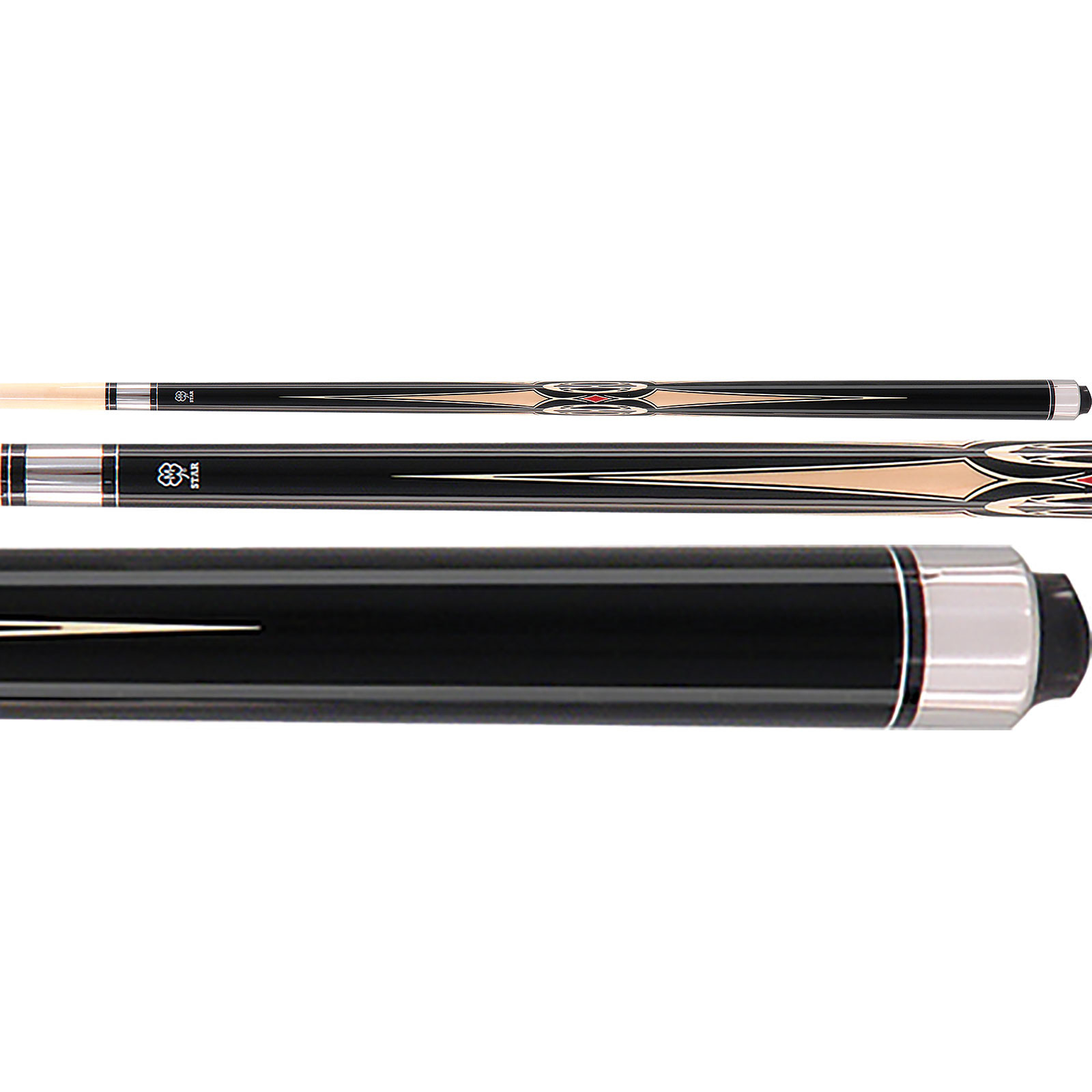 McDermott Star S4 Pool Cue - Black/Tan