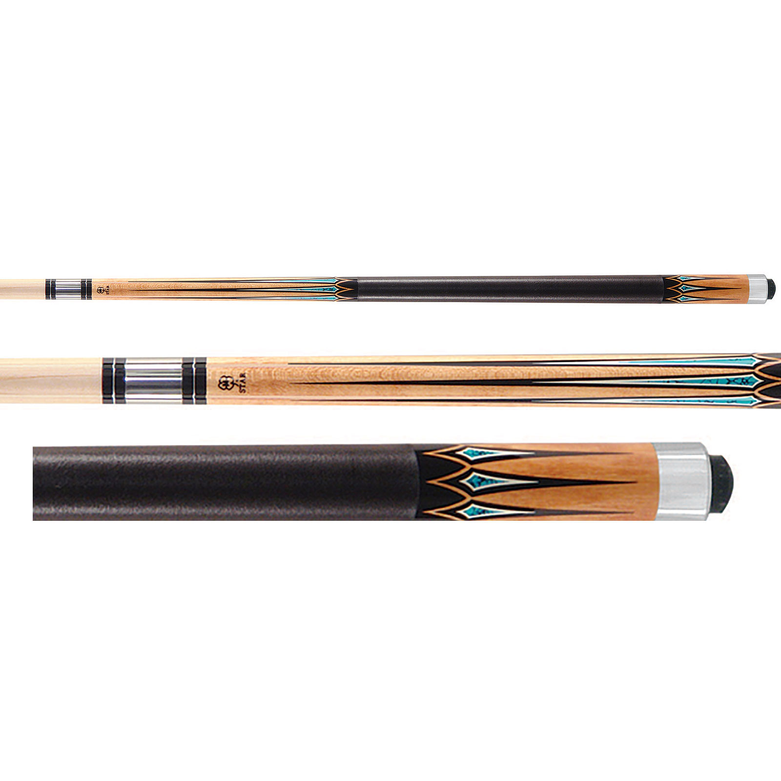 McDermott Star S49 Pool Cue - Tan/Turquoise