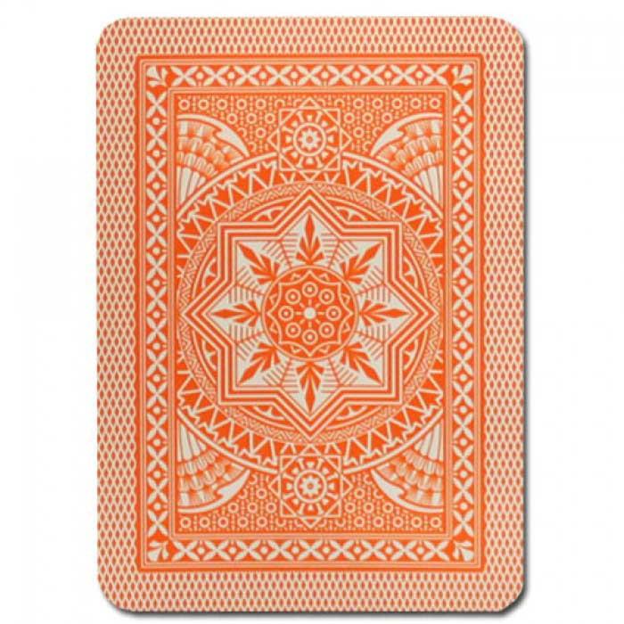 Modiano Cristallo Orange Plastic Playing Cards
