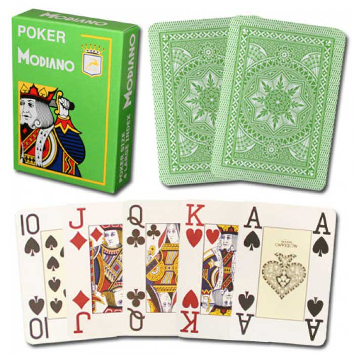 Modiano Cristallo Light Green Plastic Playing Cards