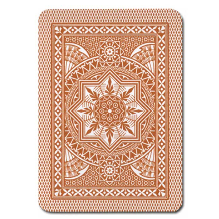 Modiano Cristallo Brown Plastic Playing Cards