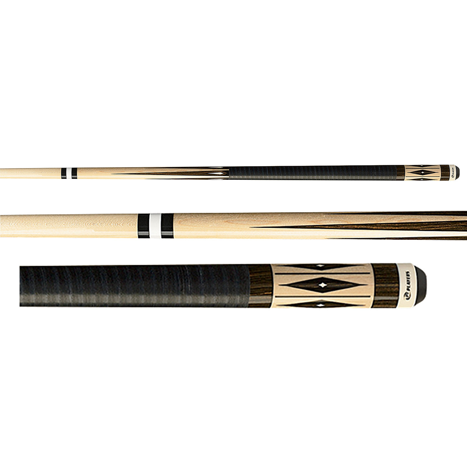 Players G-3384 Maple and Zebrawood Pool Cue Stick