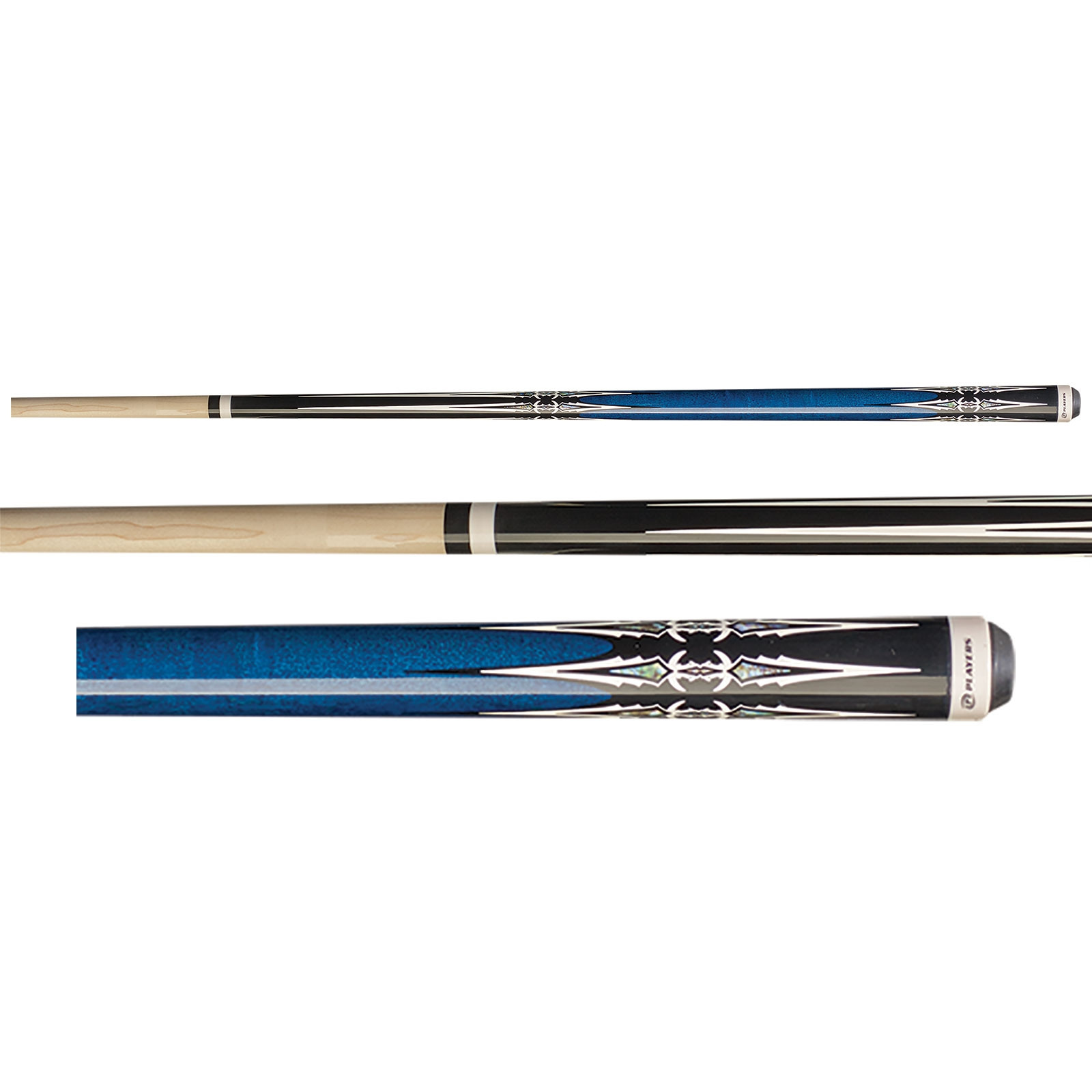 Players G-4113 Cobalt Blue Pool Cue Stick
