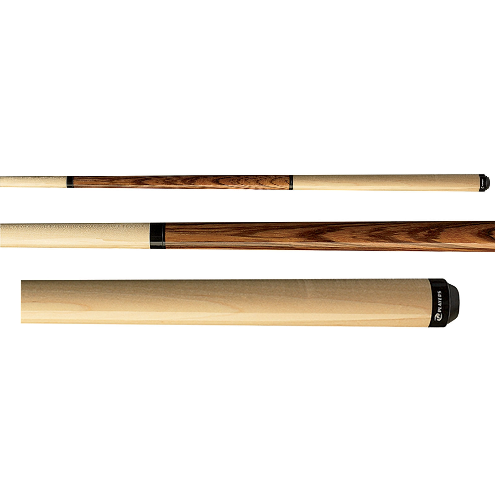 Players JB9 Maple and Zebrawood Jump Break Pool Cue Stick