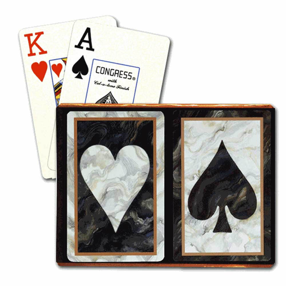 Congress Black Heart & Spade Bridge Designer Series Playing Cards