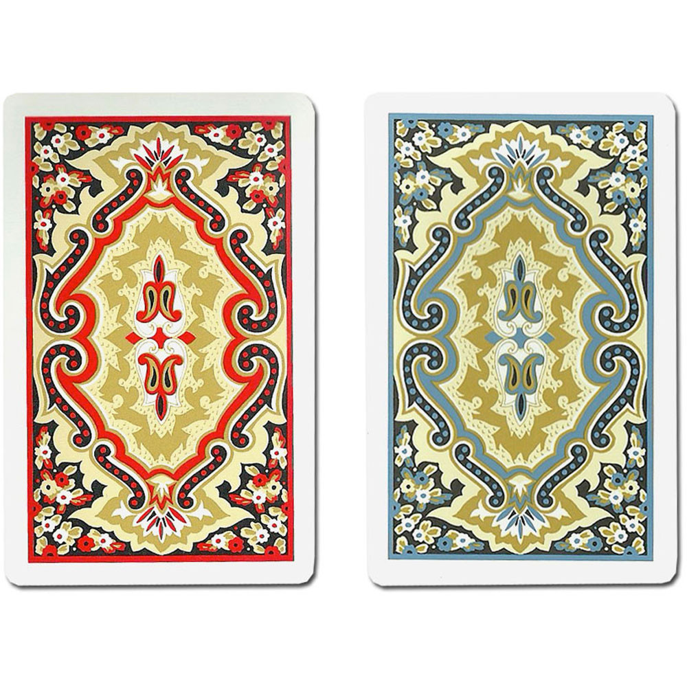 KEM Paisley Red/Blue Plastic Playing Cards