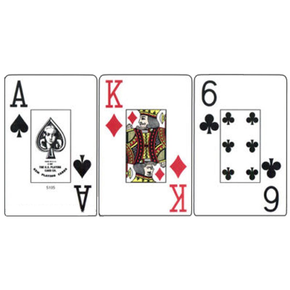 KEM Paisley Plastic Playing Cards, Blue/Red, Bridge Size, Jumbo Index