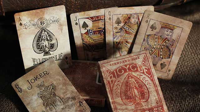 Bicycle Heritage Expert Back Playing Cards