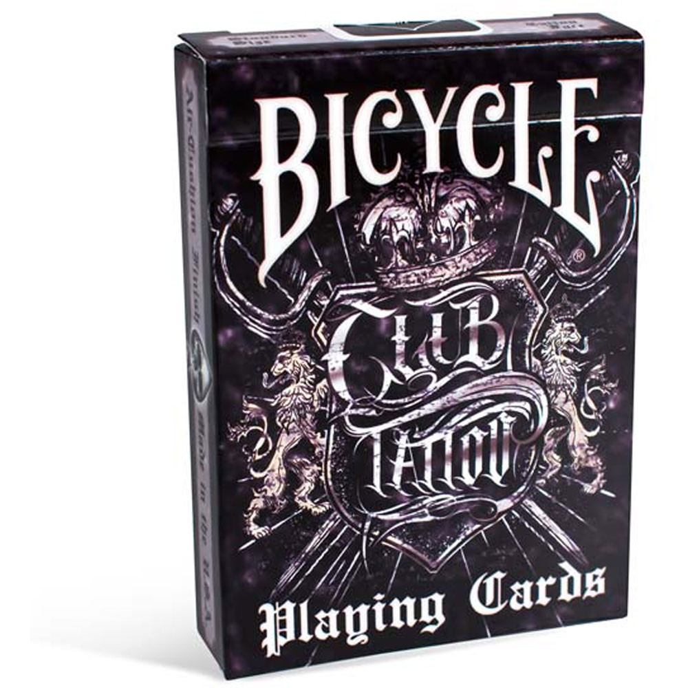 Bicycle club tattoo playing cards for Bicycle club tattoo deck