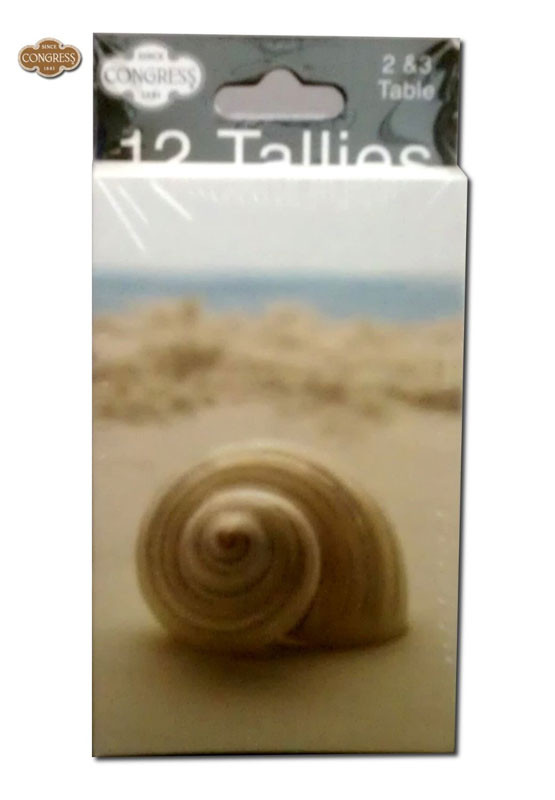 Congress Seashells Bridge Tally Cards
