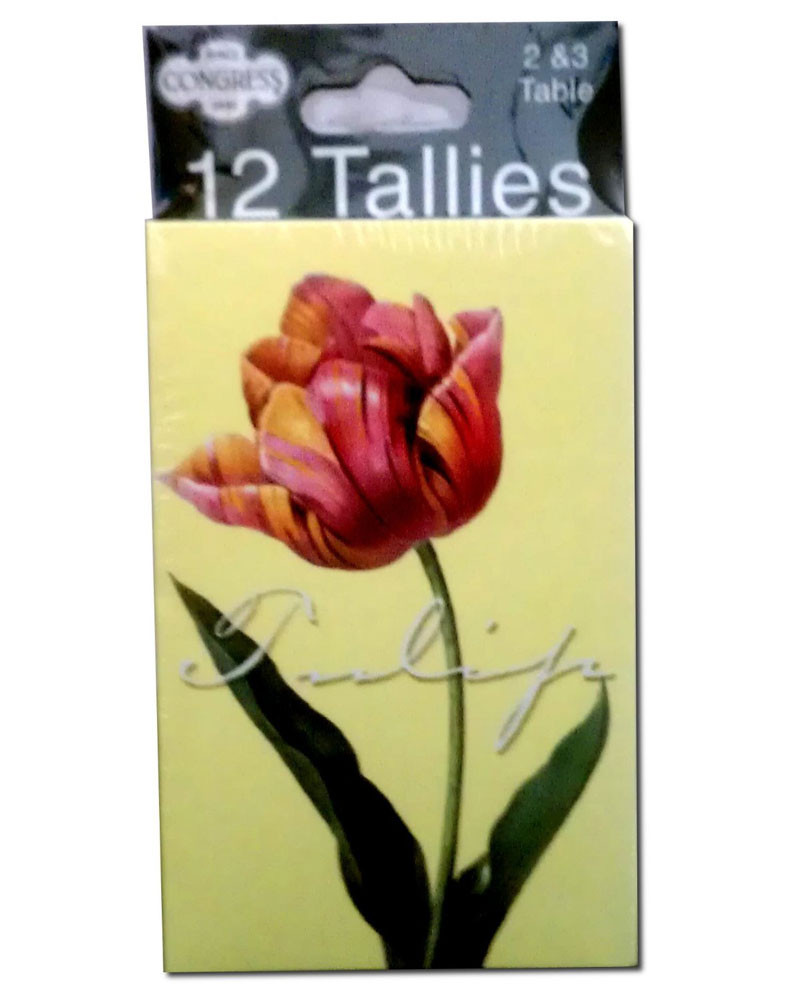 Congress Tulips Bridge Tally Cards
